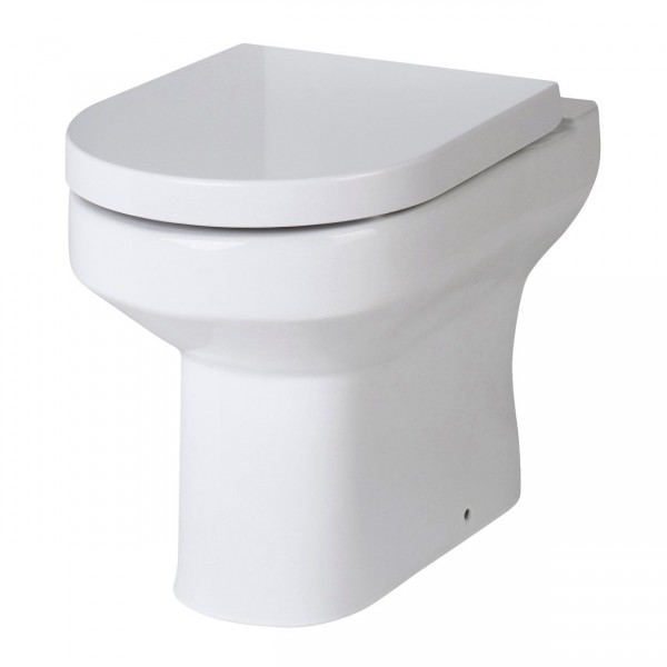 D Shape Back To Wall Pan Toilet With Soft Close Seat