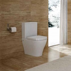 Cersanit Hanna Back To Wall Close Coupled Toilet with Soft Close Seat
