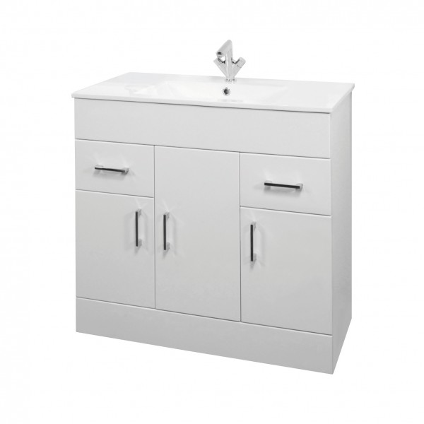 Toronto Rectangular Vanity Unit With Basin 850 mm
