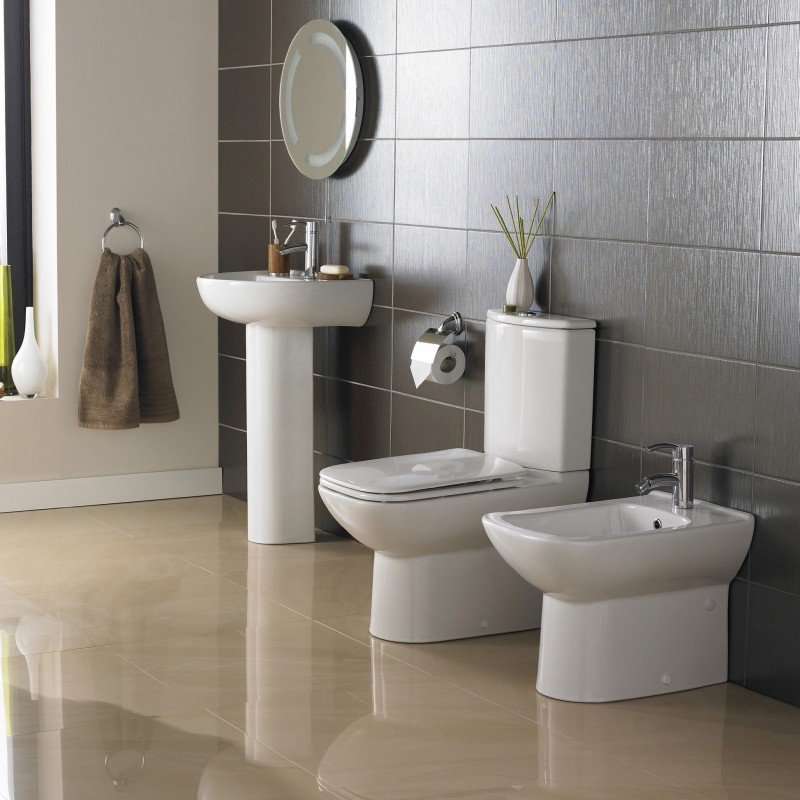 Kale modern bathroom suite barbara round for Stylish bathroom suites