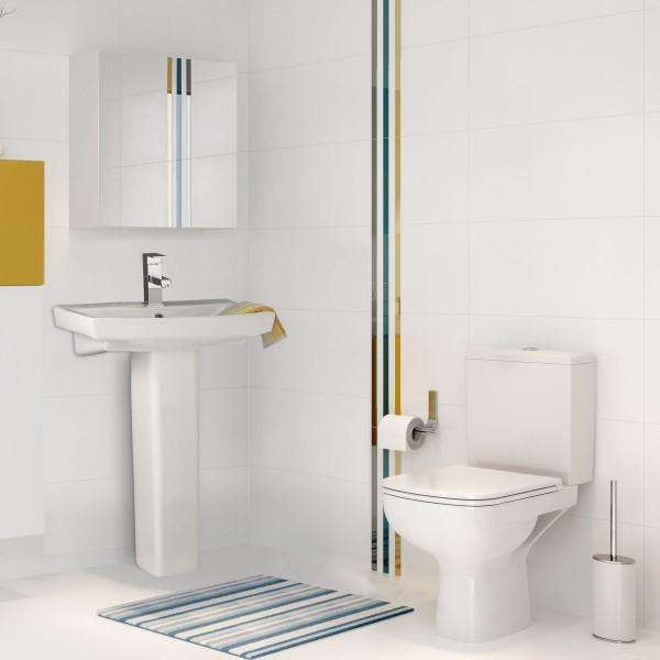 Cersanit square modern bathroom suite carla for Modern bathroom suites pictures