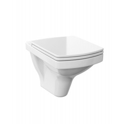 Cersanit Emma Wall Hung Square Toilet with Soft Close Seat