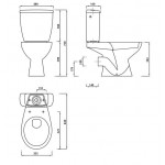 VIllia Toilet With Soft Close Seat