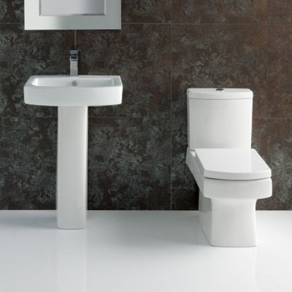 Embrace Square Toilet and Sink Suite