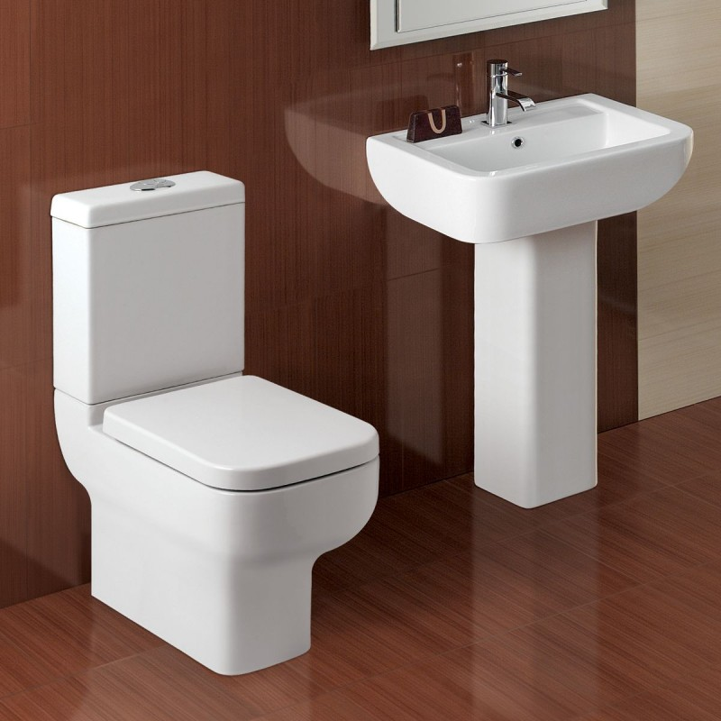 L Shape Bathroom Suite With Designer Toilet And Sink