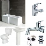 L-Shape Bathroom suite with Toilet and Sink