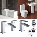 L-Shape Bathroom suite with  Designer Toilet and Sink