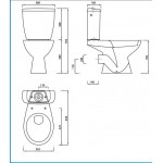 Bathroom Suite  Single Ended 1600/1500/1400/1300/1200 mm Bath Toilet Vanity Unit and Taps