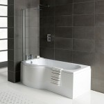P-Shape Bathroom suite with Toilet and Sink