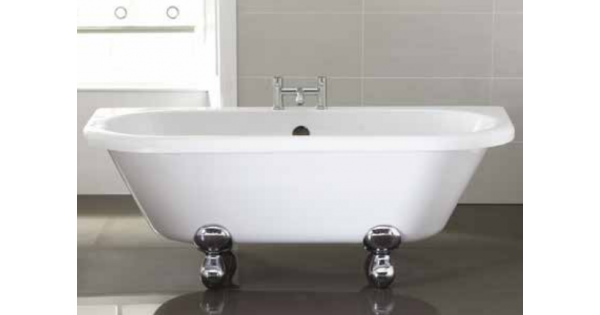 Back To Wall Free Standing Double Ended Bath 1700 X 750