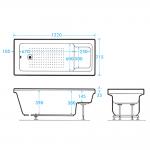 Micro Bath Single Ended  1200mm