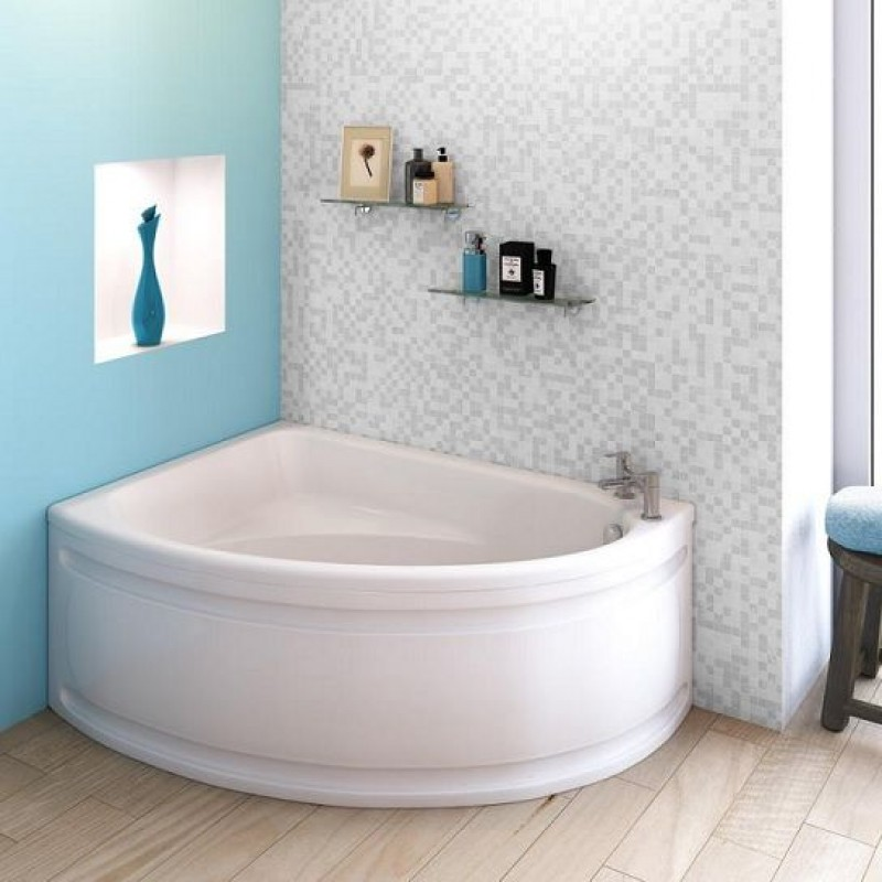 Bathroom Corner : Single Sided Offset Corner Bath 1500 x 1050 mm