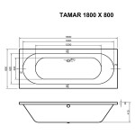 Round Double Ended Bath 1800 x 800 mm