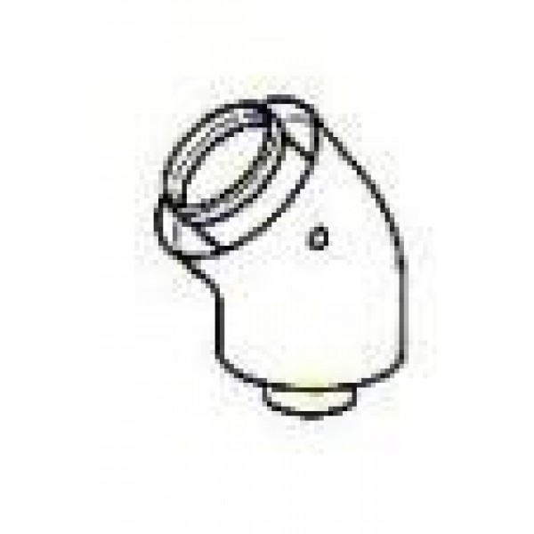Ferroli 45 degree Flue Elbow 1KWMA64W