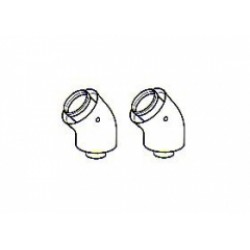 Heatline 45 degree Flue Elbow Pair