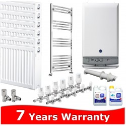 Baxi Duo Tec 28 HE Combi Heating Pack 7 Radiators