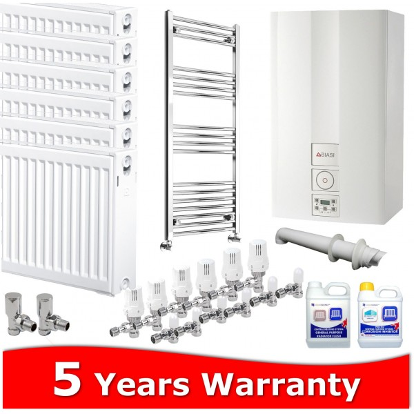Biasi Advance 25 Combi Heating Pack 7 Radiators