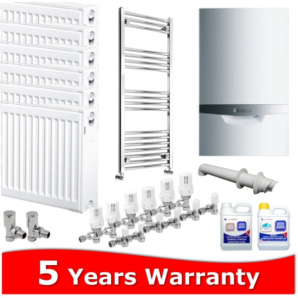 Vaillant ecoTEC Plus 832 Combi Heating Pack 7 Radiators