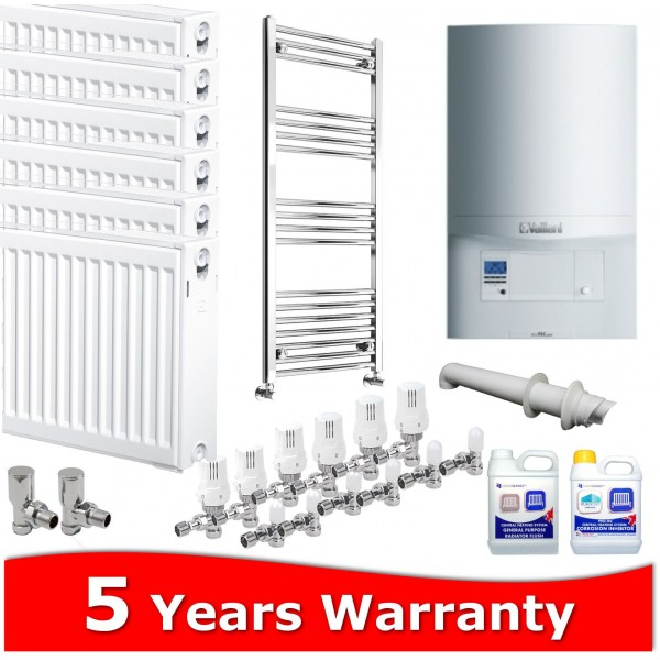 Vaillant ecoTEC Pro 28 Combi Heating Pack 7 Radiators