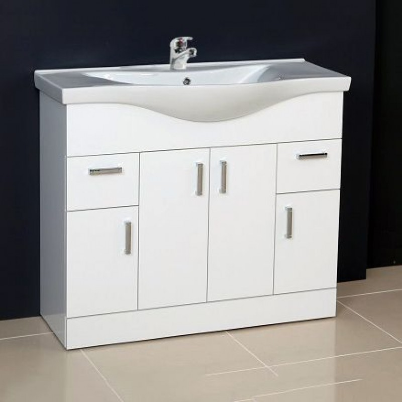 bathroom cabinet base unit ardent vanity unit cabinet with basin 1000 mm 10997