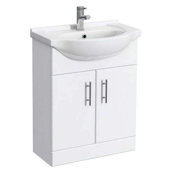 Classic Vanity Unit Cabinet with Basin 650 mm