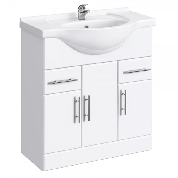 Classic Vanity Unit Cabinet with Basin 750 mm