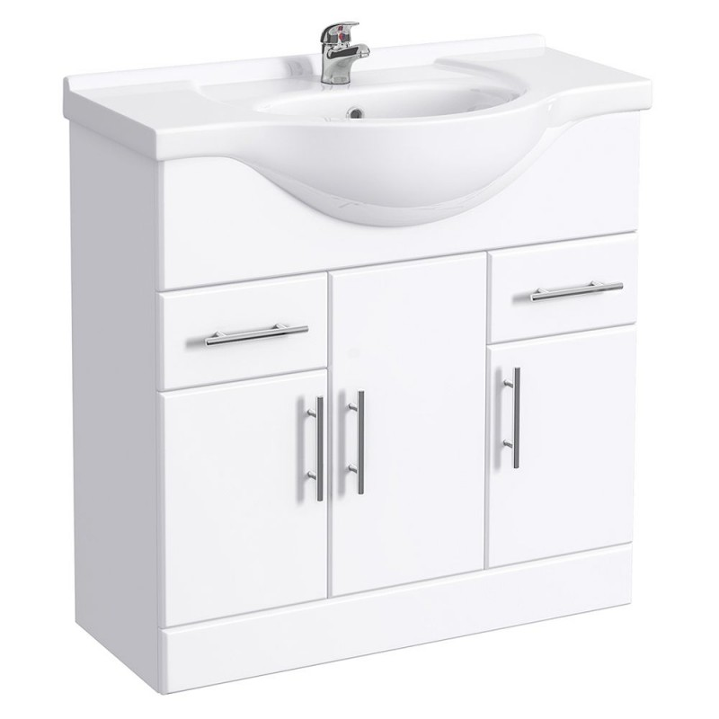 Classic Vanity Unit Cabinet With Basin 850 Mm