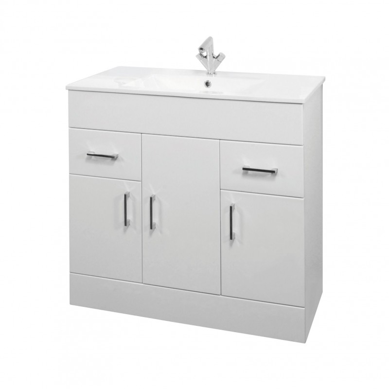 Toronto 3 Piece Bathroom Vanity Package 850 Mm
