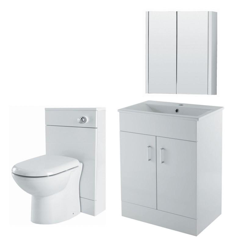Toronto 3 piece bathroom vanity package 650 mm for Bathroom vanity packages