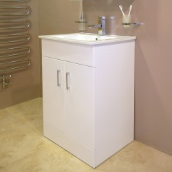 Toronto Rectangular Vanity Unit With Basin 650 mm