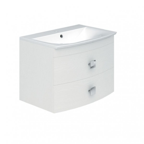 Baileys Textured White Wall Mounted Cabinet and Basin