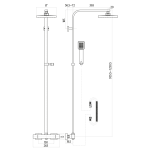PHN Square Shower and Riser Kit