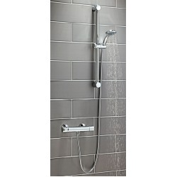Scudo Round Thermostatic Shower with Riser Kit
