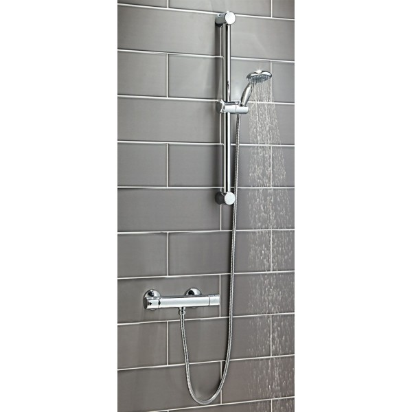 PHN Round Thermostatic Shower with Riser Kit